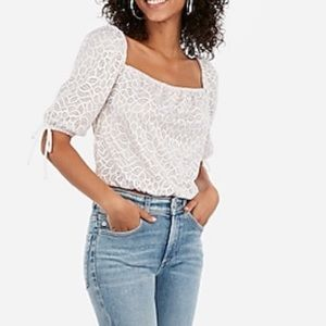 NWT express lace square neck top